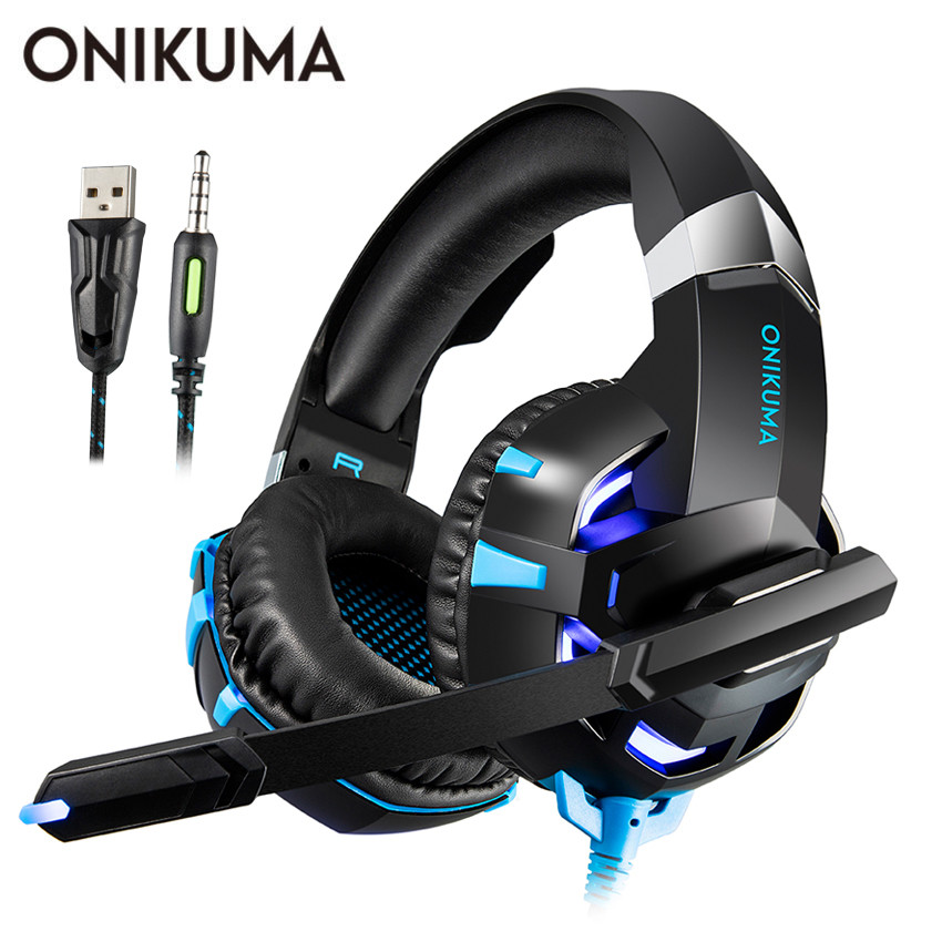 ONIKUMA K2 PS4 Gaming Headset casque PC Stereo Earphones Headphones with Microphone LED Lights for  Laptop Tablet / New Xbox One xiaomi mi band 4