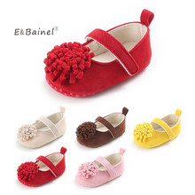 E&Bainel Newborn Baby Shoes Prewalker Soft Bottom Anti-slip Baby Girl Shoes Footwear Toddler Girl Suede Crib Shoes For Kids