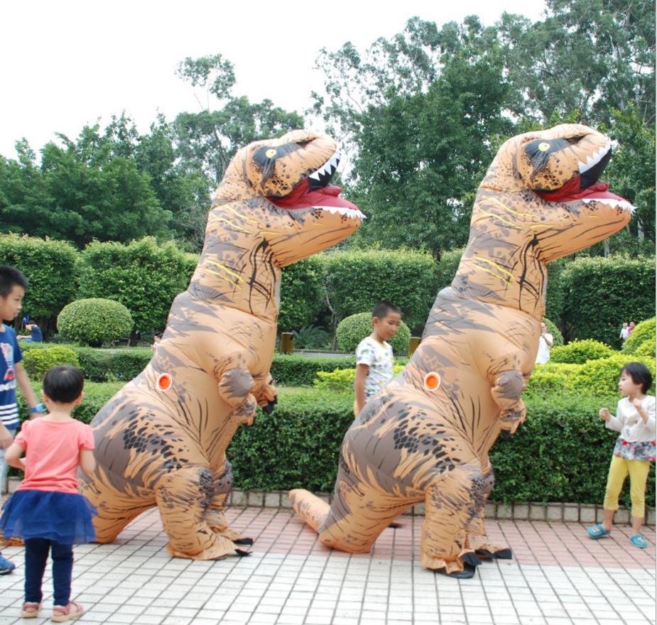 I NFLATABLE Dinosaur T REX Costumes For Women Blowup T-Rex Dinosaur Halloween Inflatable Costume Mascot Party Costume For Adult