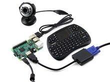 Best price Raspberry Pi 3 Model B Package C Development Kits + Camera + Wireless Keyboard + 16GB Micro SD Card with US/EU Power Adapter