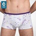 Atacado 2 Peça/embalagem Shorts do Pugilista Dos Homens cuecas cuecas Cuecas de Fibra de Bambu Antibacterianas Saudáveis do Sexo Masculino para o sexo masculino