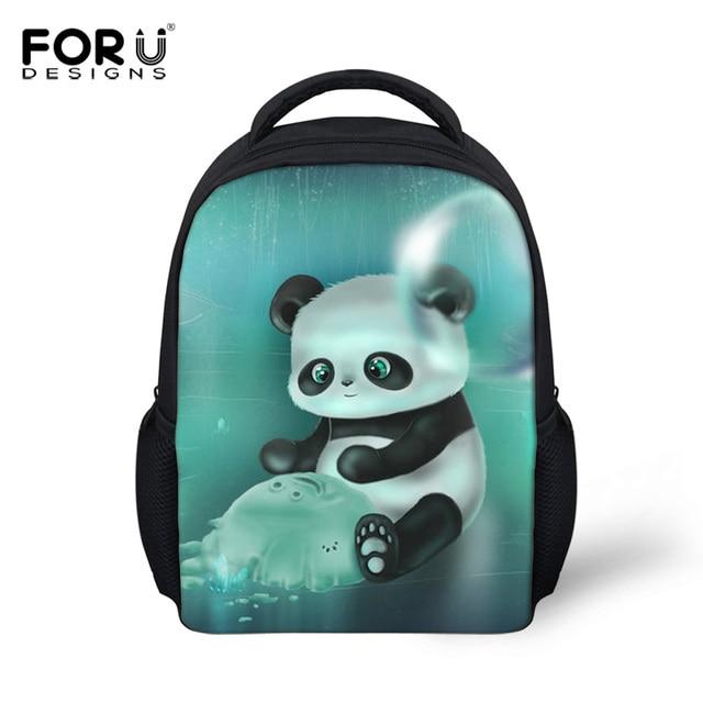 d8557686d3 FORUDESIGNS 12inch Cute Animal Small Backpacks For Children Shoulder Bag  Kindergarten Baby School Bag Panda Printing Backpack