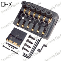 QHX New Style A Set 6 String Tremolo Bridge Tailpiece for Headless electric Guitar Accessories parts Musical instrument