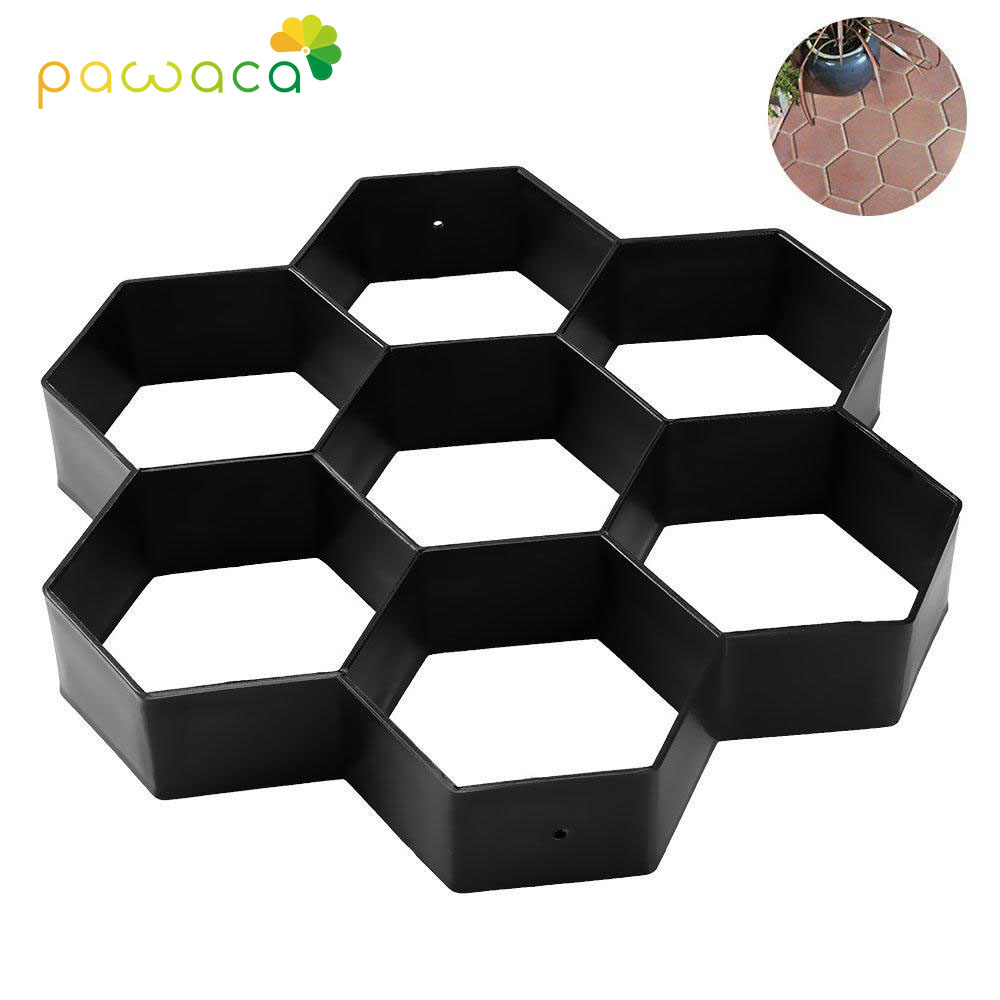 DIY Manually Paving Cement Brick Stone Road Paving Mold Garden Concrete Plastic Molds Tools  For Walkways Path Maker Mold