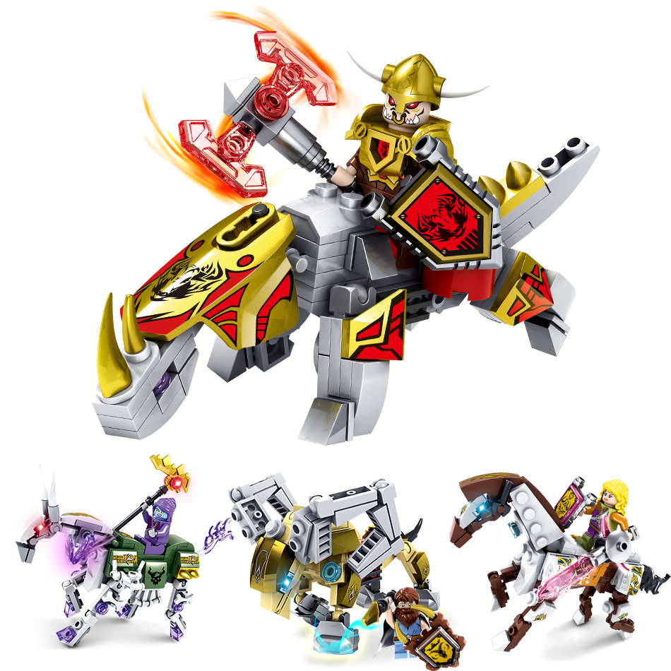 4pcs/lot Knights Armor Building Blocks Compatible Legoed City Warcraft2 Bricks War Crafte Human Hero Action Figure children Toys
