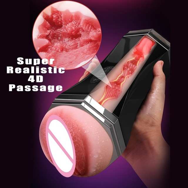 Two Channel Automatic Male Masturbator Blowjob Pussy Sucking Realistic Vagina Sex Machine Aircraft Cup Oral Sex Toys For Men 3