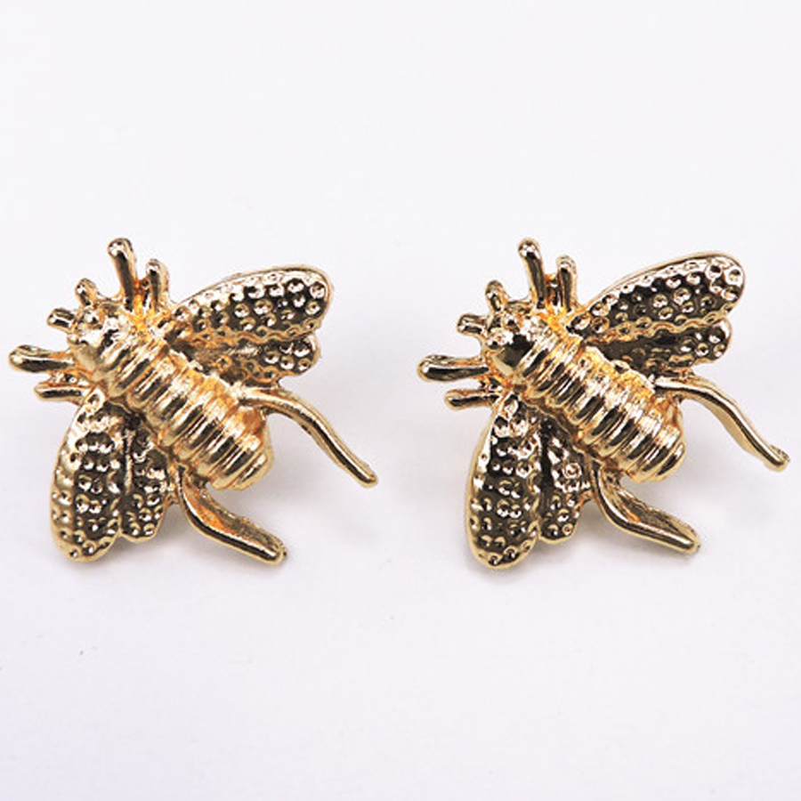 2PCS Set Classic Style Bee Brooch Vintage Shirt Collar Brooches Pins Cute Insect Sweater Suits Broche