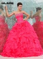 shipping yarn made simple elegant wedding dress A wedding dress 2018 Watermelon color lotus leaf under the skirt