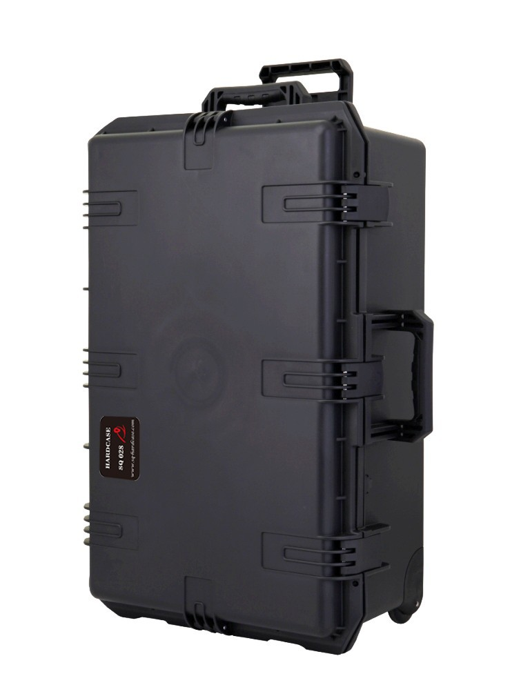 waterproof tool case trolley shipping case 736*457*266mm deposit box Impact Plastic toolbox camera case equipment box with Foma tool case gun suitcase box long toolkit equipment box shockproof equipment protection carrying case waterproof with pre cut foam