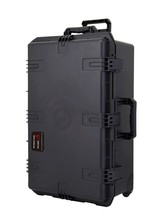 waterproof tool case trolley shipping case 736*457*266mm deposit box Impact Plastic toolbox camera case equipment box with Foma