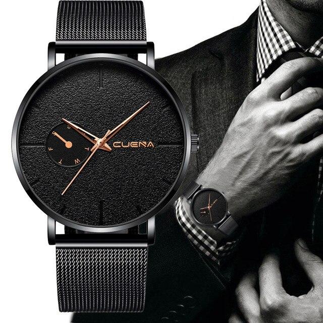 relogio masculino Fashion reloj hombre Stainless Steel Men Military Sport Date Analog Quartz Wrist Watch clock erkek kol saati