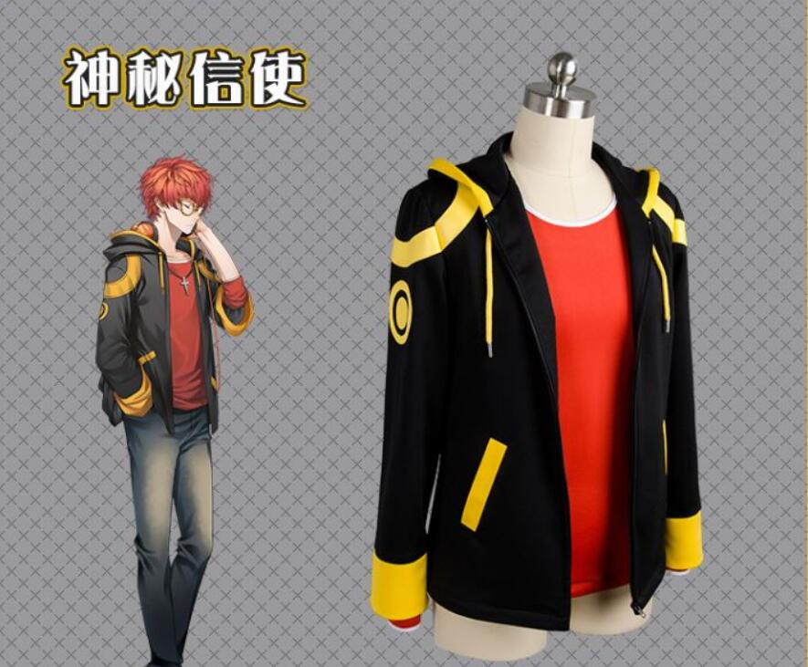 Game Mystic Messenger 707 EXTREME Outfit Cosplay Costume Jacket+ Shirt +wig Anime Halloween cosplay costume