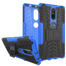 Mobile Case For Lenovo Phab 2 Plus PB2-670N 6.4″ Cover Armor Shockproof Heavy Duty Silicon PC Stand phab2 PB2 670N Phone shell