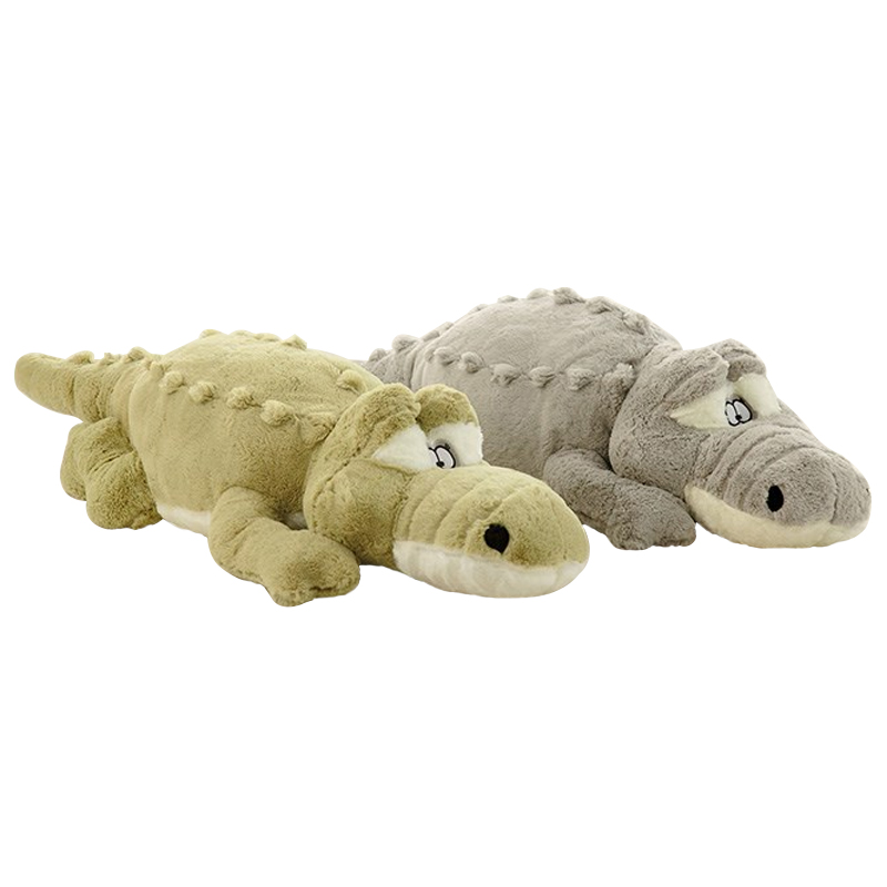1pc 55cm/80cm New Arrival Stuffed animals Big Size Simulation Crocodile Plush Toy Cushion Pillow Toys For Girlfriend Children stuffed animal 44 cm plush standing cow toy simulation dairy cattle doll great gift w501