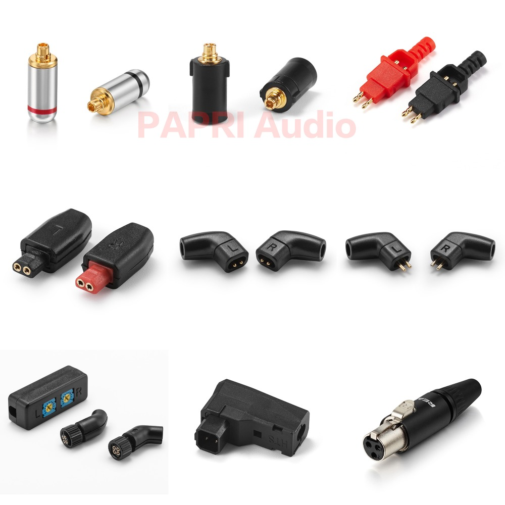 PAPRI HiFi Earphone Plug MMCX Connector DIY Upgrade Headphone Jack Support K812 Q701 HD650 0.75MM Plugs