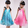 2017 summer New children's clothing girls dress girl student children chiffon dress girls princess  dance party vestidos