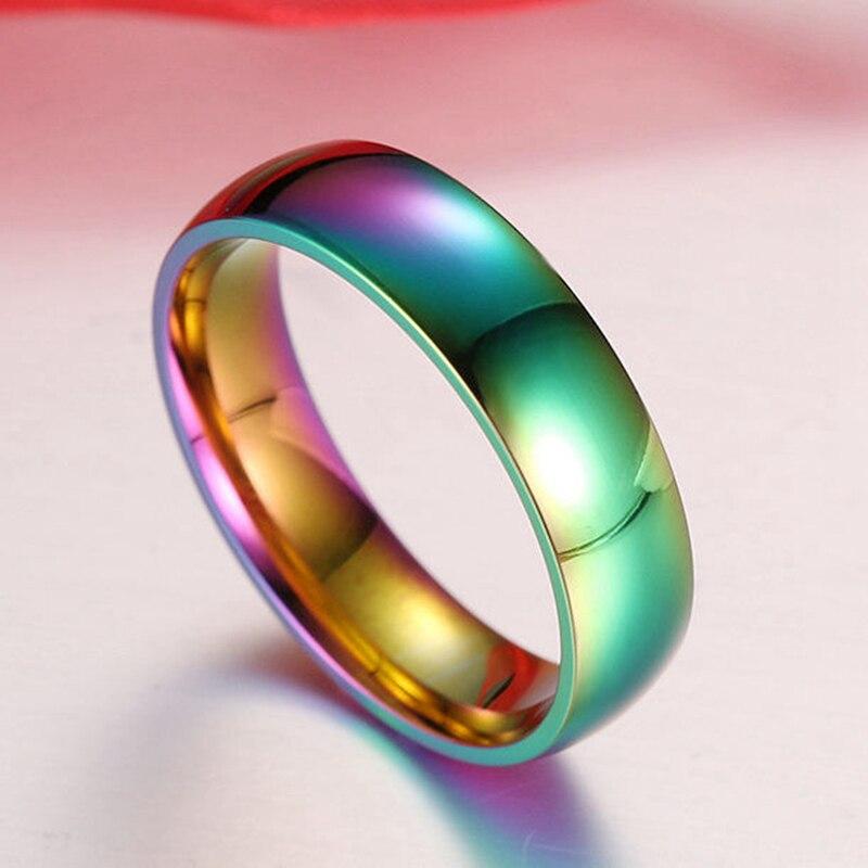 Европейские и американские модная коллекция 2016 года новое кольцо покрытие вакуум красочный ослеплять свет кольцо Радуга кольцо Мода девуш...