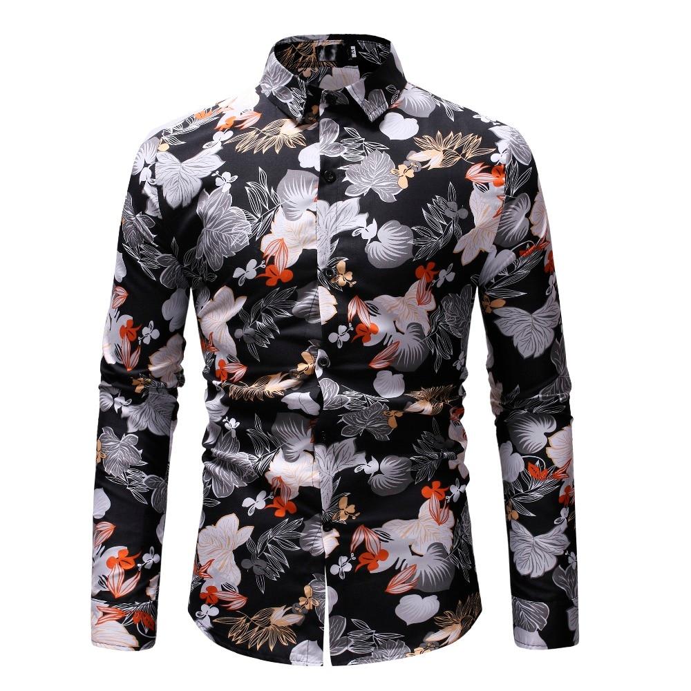 Casual Plaid Men Shirt Spring Autumn Long Sleeve Shirt Hawaiian Floral Shirt Soft Comfort Slim Fit Mens Clothing Plus Size M-3XL 6