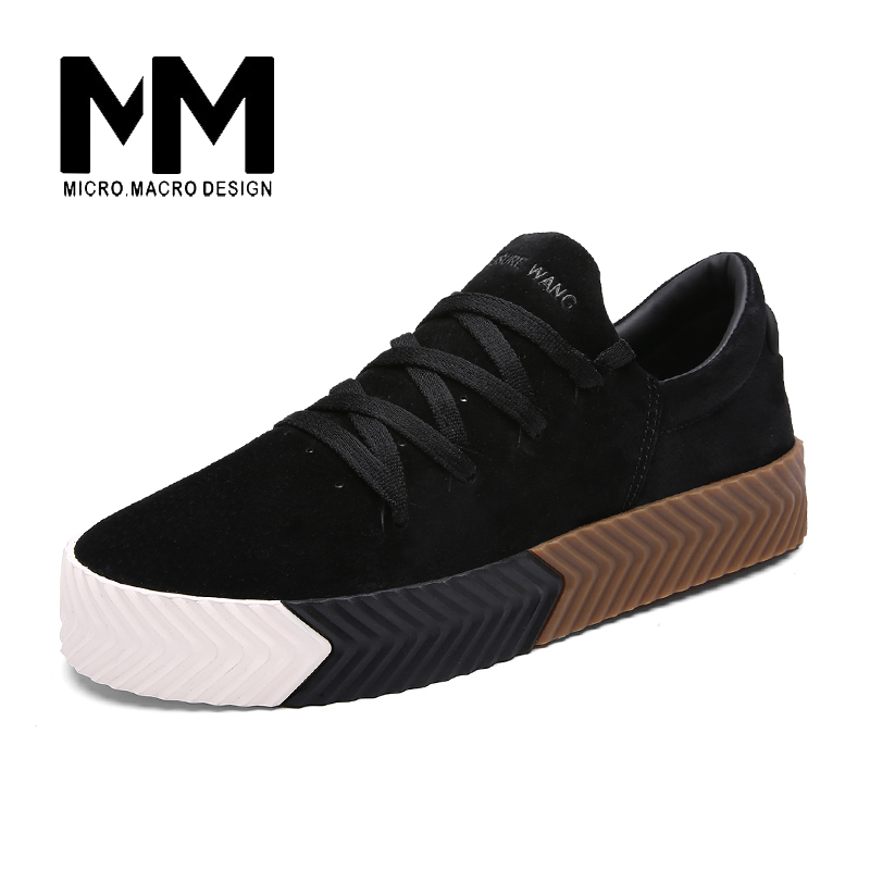 MICRO. MACRO Men Casual Shoe 2017 Spring New Design Linghtweight Breathable Solid Fashion flat shoe Pig Suede men shoe 801 micro micro 2017 men casual shoes comfortable spring fashion breathable white shoes swallow pattern microfiber shoe yj a081
