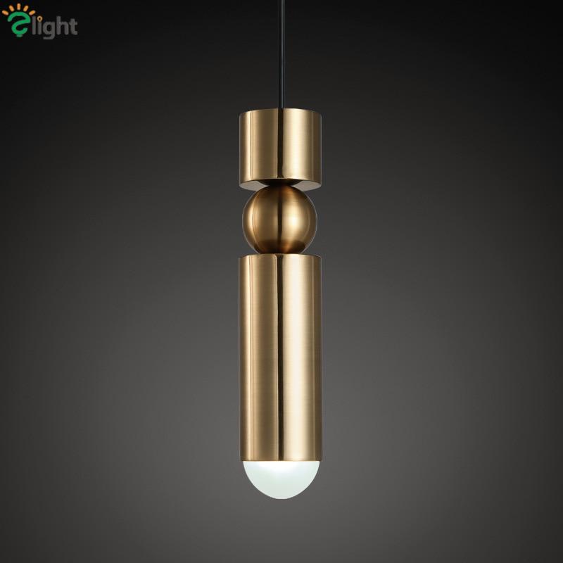 Dia7.5cm Gold Chrome Plate Metal Led G9 Penant Light Noridc Minimalism Lee Broom Luminaire Led Pendant Light Suspend Light roomble потолочный светильник lee broom decanterlight chandelier