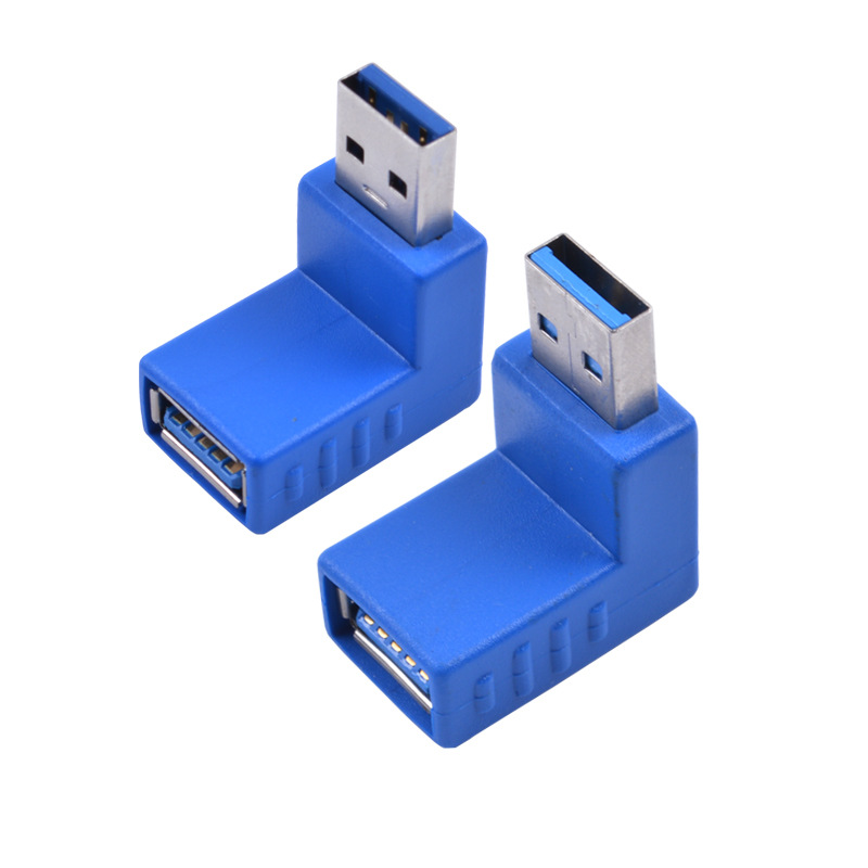 10pcs/lot 90 Degree Vertical Left Right Up Down Angled USB 3.0 Male to A Female M/F Adapter various USB3.0 Connector Converter image