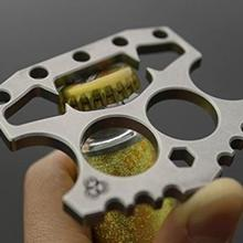1 шт. Многофункциональный из нержавеющей стали двойной палец костяшки шестигранный ключ самообороны открывалка для бутылок инструмент