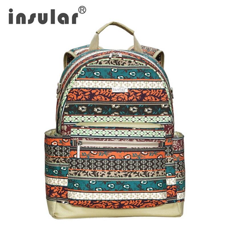 ФОТО Insular Baby Diaper Bag Backpack Mommy Bag Nappy Bag Large Capacity fashion Canvas Multifunctional Bebe organizer bag maternity