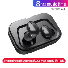 New Mini BLuetooth Earphone Wireless Earbuds Stereo In Ear Bluetooth 5.0 Waterproof Wireless Ear Buds Earphone 2200ma Power Bank new bluetooth earphone port cordless wireless 3d earbuds stereo in ear bluetooth 5 0 ipx8 waterproof wireless ear buds earphone