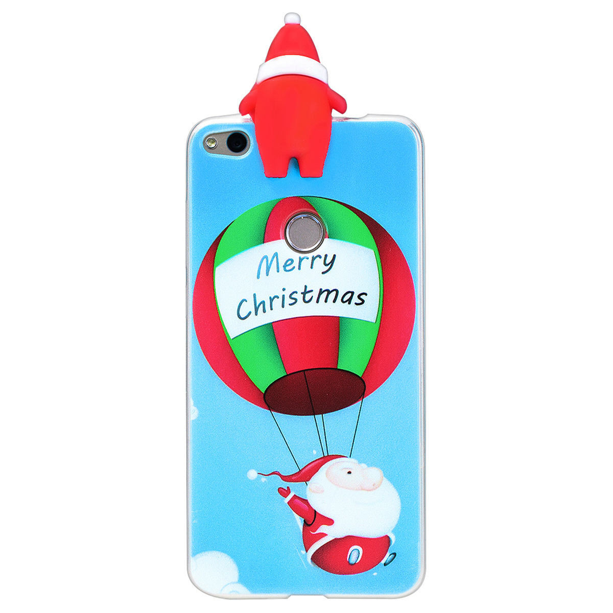 3D Happy New Years Case For Huawei P8 Lite Soft Case Silicone For Merry Christmas For Huawei P8 Lite 2017