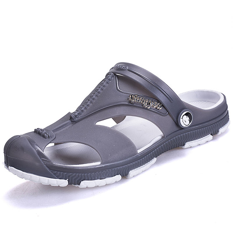 Summer Men Slip-On Sandals Beach Casual Breathable Slippers Male Shoes Comfortable Outdoor Sandals Sapato Masculino new arrival summer men sandals leisure solid waterproof male outdoors slippers pu leather fashion slip on sandals w1 35