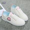 2017 das Mulheres Moda Casual Sapatos de couro Zapatos Mujer Sapatos Camuflagem Sapatos Estudantes Meninas apartamentos sapatos mulheres