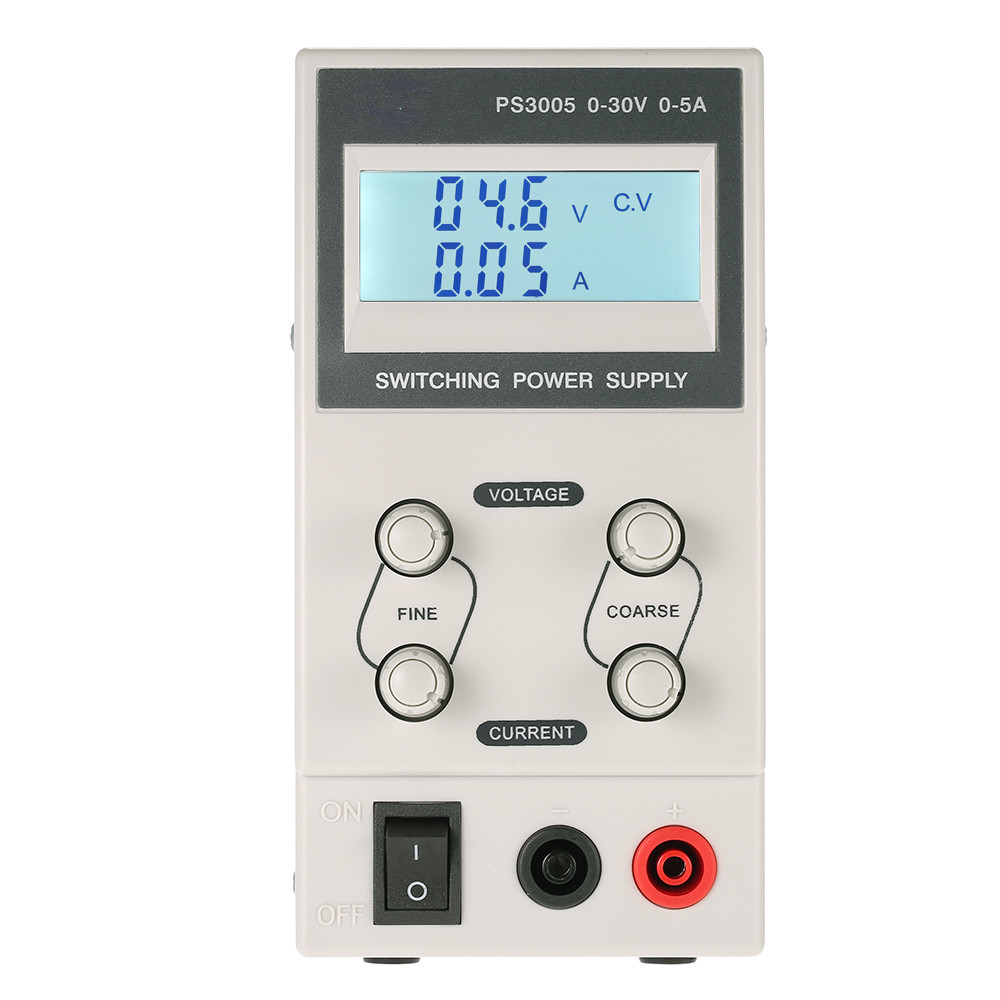 Hot Sale Original High Accuracy DC Switching Power Supply Adjustable Mini Portable PS3005 LCD Display Backlight 30V 5A EU Plug adjustable voltage regulator ps305d 30v 5a switching dc power supply 0 1v 0 01a digital display laboratory mini dc power supply