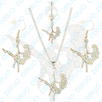 Free Shipping Wholesale Pole Dancing Girl Navel Belly Ring Dancing Girl Necklace Earring Belly Ring Body