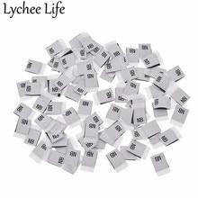 Lychee Life 100 шт. детская одежда размер этикетки полиэстер с буквенным принтом этикетки ручной работы DIY Одежда швейная ткань аксессуары