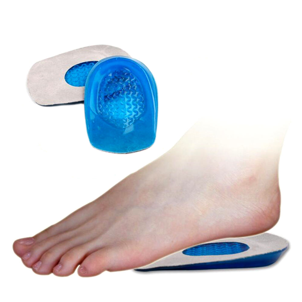1Pair Silicone Gel heel Cushion insoles soles relieve foot pain protectors Spur Support Shoe pad feet care Inserts Man and Women1Pair Silicone Gel heel Cushion insoles soles relieve foot pain protectors Spur Support Shoe pad feet care Inserts Man and Women