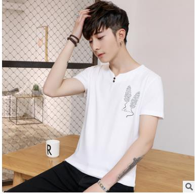 2018 New Solid color T Shirt Mens Black White T-shirts Summer Skateboard Tee Boy Hip hop Skate Tshirt Tops WQ-21