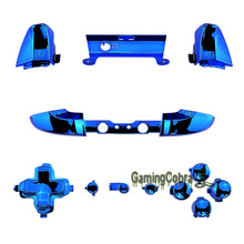 Chrome Blue Direction ABXY Full Set Buttons Replacement Part