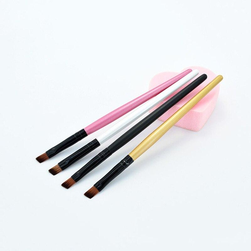 Angled Eyebrow Brush Synthetic Taklon Hair Gel Eyeliner Brush Brand Make Up Eye Liner Brush Bevel Brush for Eye Brow