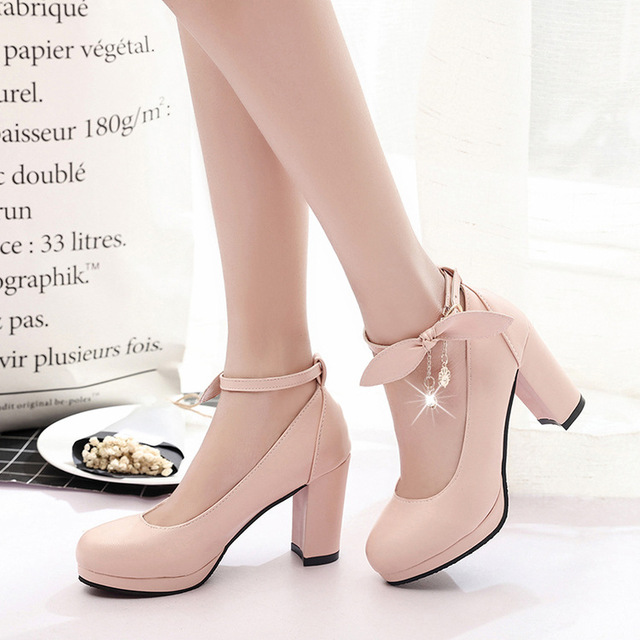 f2f613ca9 Женская обувь mary jane женские туфли на высоком каблуке Белая Свадебная  обувь туфли-лодочки на