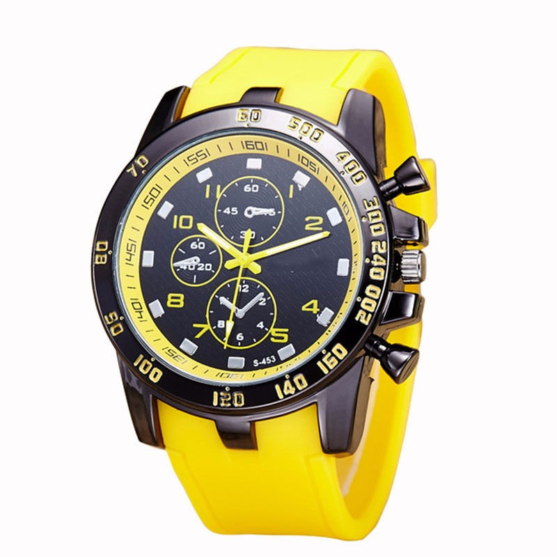 Hot Selling Large Dial Sport Watches Men Casual Silicone Male Outdoor Military Quartz Wristwatches