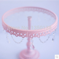 8 inches cake stand/cupcake/cake tray/cake plate with glass free shipping