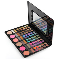 78 Color Neutral Warm Eyeshadow Palette With Blusher Contour Powder Lipgloss Fashion Eye Shadow Pigment Palette