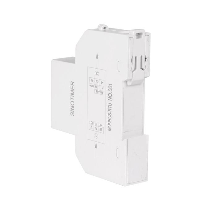 Voltmètre numérique multifonctionnel ampèremètre wattmètre LCD rétro-éclairage affichage Rail DIN KWH mètre AC 230 V 5-100A RS485 Modbus sortie