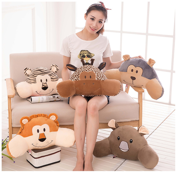 Cute Office Pillow : Cartoon Animals Decorative Pillows for Sofa,Car Seat Office Chair Cute Pillows,Waist Pillow Back ...
