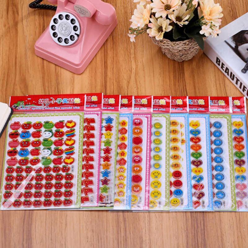 3 pz/pacco Bambini Smile Faces Ricompensa Notebook Adesivi Scrapbooking Insegnante di Scuola Merito Lode Classe di Carta Adesiva Lable Decorazione