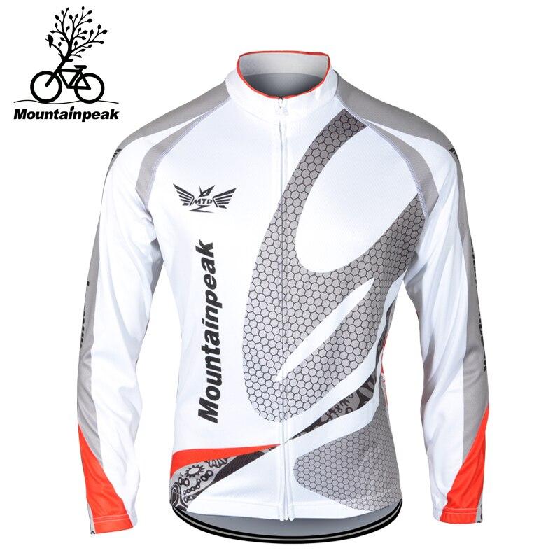Mountainpeak 2017 Cyklistický kabát Fleece s dlouhým rukávem Pánská bunda Venkovní jezdecké oblečení Rychleschnoucí Větruvzdorný kabát