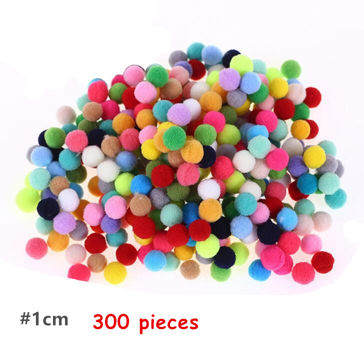 300pcs Pack 1cm Small Colorfully Ball Boys Girls Toys Kindergarten DIY Handmade Materials For Children Creative Material BS94