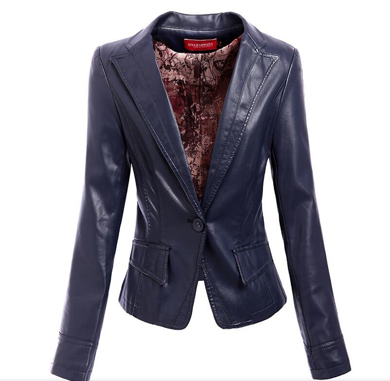 5xl Nouveau Mme Gratuite En Moutons Vêtements Paragraphe Noir Cuir Printemps Livraison Modèles Phi Costume rouge Court Veste 2018 m blue a1vwCW5xq