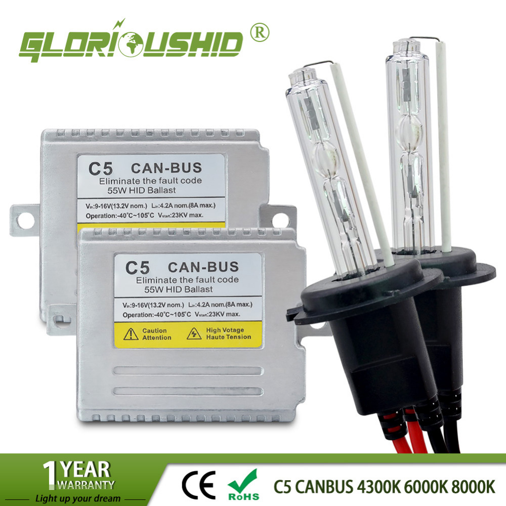 H7 XENON C5 55W H1 H3 H4 H11 HID CAR lamp HID KIT 12v 55w color 4300k,6000k,8000k Canbus xenon hid kit система освещения byd s6 hid ccfl 35 55w 12v