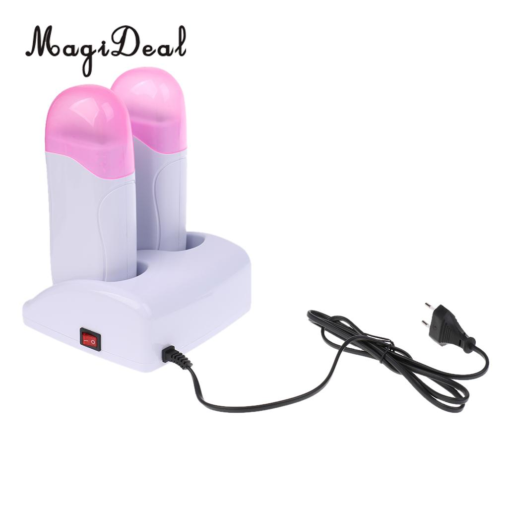 Electric Roll on Depilatory Heater Hair Remover Wax Warmer Machine - EU Plug High effecient and time-saving Durable ABS